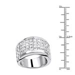 Platinum Ring Invisible Set Princess Cut Diamond-3