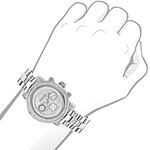 Iced Out Genuine Diamond Watch For Women 2ct Luxurman Montana Chronograph 3