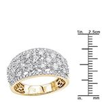 14K Gold Designer Diamond Wedding Band Ladies Ri-3