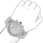 Iced Out Watches: Luxurman Mens Genuine Diamond Watch 1.25ct Heavy band 3