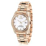 Rose Gold Plated Diamond Watch For Women Tribeca 1