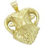 Mens 10k Yellow gold Goat head charm EGP23 1