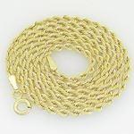 10K Yellow Gold rope chain GC15 1