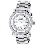 Mens Diamond Watch 0.12 ct Iced Out Luxurman Paved in White Sparkling Stones 1