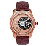 Men's Classic 1.70Ct Diamond Watch With Red Le