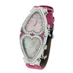 Jacob Co. Ladies Swiss Pink Heart To Heart Two Tim