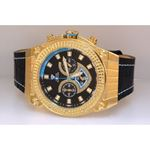 Aqua Master Yellow Gold Mens Diamond Watch Blue Accent Dial 1