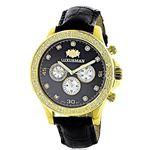 Mens Diamond Watch 0.2Ctw Black MOP Liberty 18K Ye