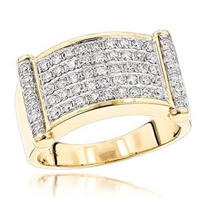 c5a71fbcd25 Luxurman Rings for Men  Unique 14k Gold Mens Diamond Band by LUXURMAN (1.25  Ct