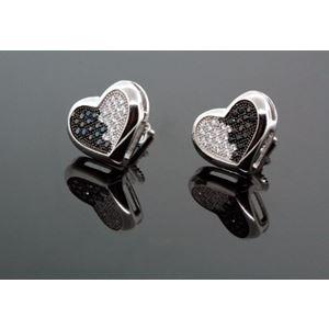 .925 Silver Black Square Black Onyx Crystal Micro Pave Unisex Mens Stud Earrings 12mm