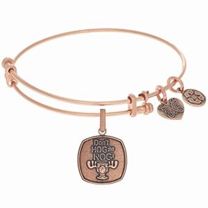 GEL1179 Angelica Ladies Initials Collection Bangle Charm 7.25 Inches Adjustable