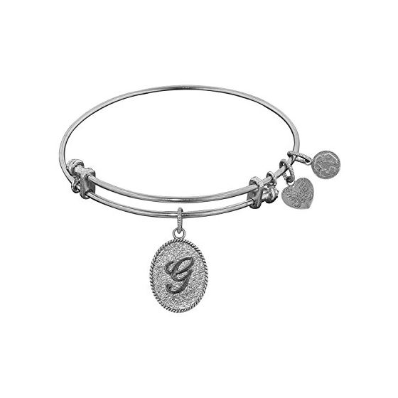 Angelica Ladies Initials Collection Bangle Charm 7.25 Inches (Adjustable) WGEL1161