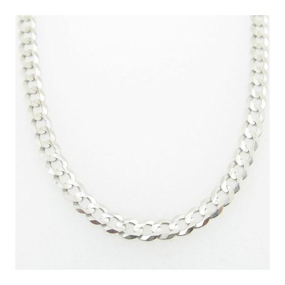 Mens White-Gold Cuban Link Chain Length - 24 inches Width - 3mm 3