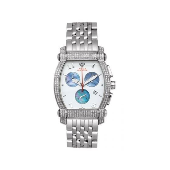 Aqua Master Diamond Watch Unisex Stainless Steel Watches With Half Full Diamonds 15-5W