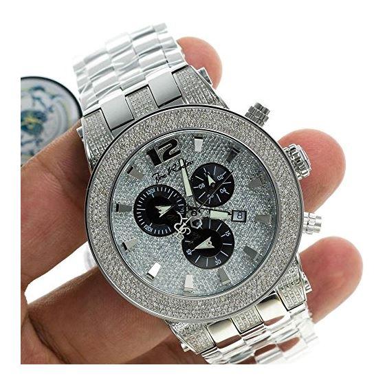 Diamond Men's Watch - BROADWAY Silver 5 Ctw-3