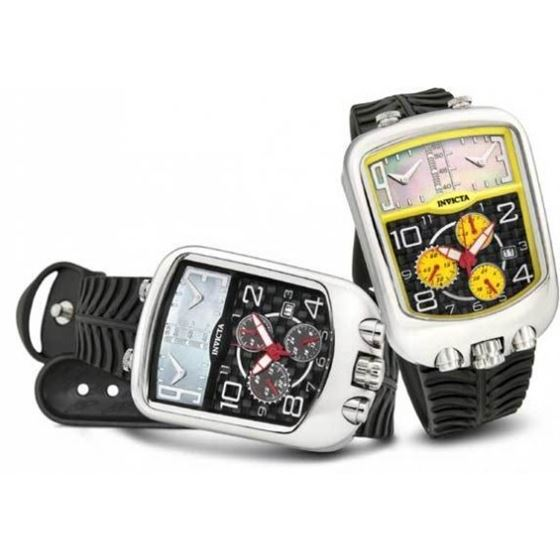 Invicta Chronozone Dakar Triple Time Zone Chronograph