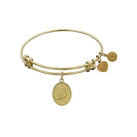 Angelica Ladies Initials Collection Bangle Charm 7.25 Inches (Adjustable) GEL1163