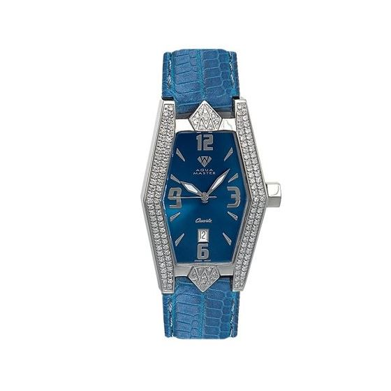 Ladies' Aqua-Diamond Watch, 1.50 Ctw