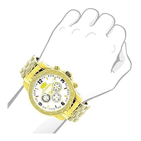 LUXURMAN Diamond Watches Mens Diamond Watch 0.25-3