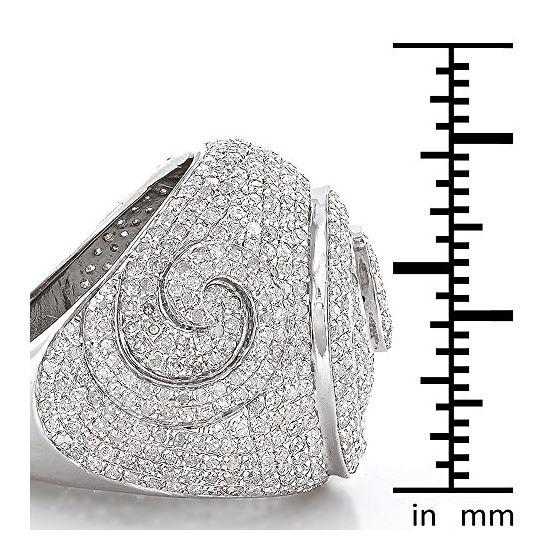 Sterling Silver Mens Diamond Ring 3Ctw (Sterling-3