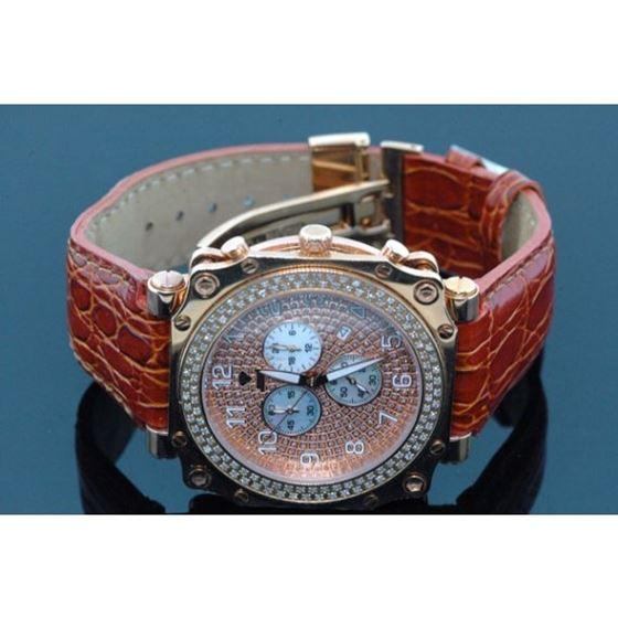 Aqua Master Mens Rose Gold Mens Diamond Watch