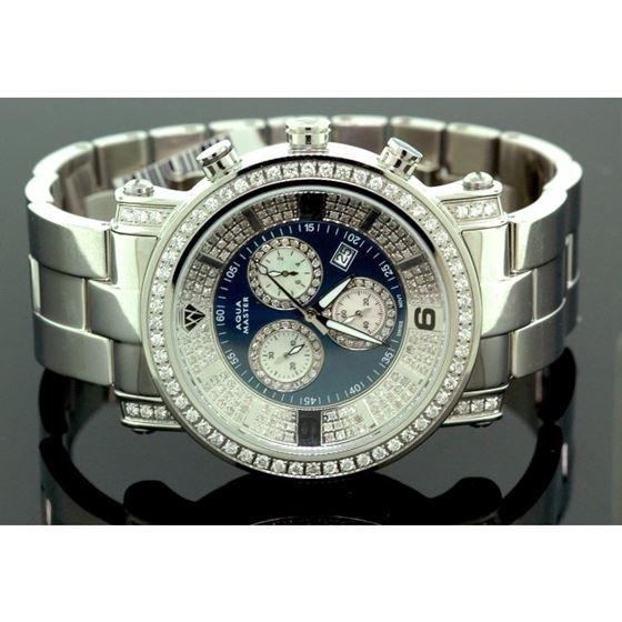Aqua Master Diamond Mens Watch 3.60ct w104b 1