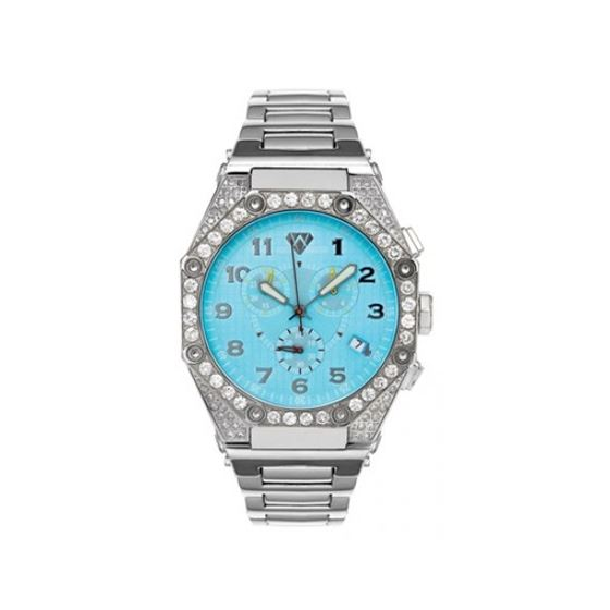 Aqua Master Diamond Watch The AquaMaster Octagon Watches Stainless Steel with Diamonds 2-2W