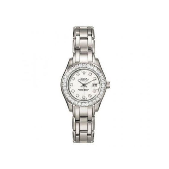 Rolex Diamond Watches: Rolex Pearlmaster Diamond Ladies Watch 80299-PM