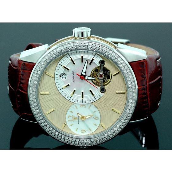 Mens Aqua Master Diamond Automatic Red W 55776 1