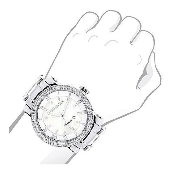 Luxurman Diamond Watches White Mother of 90169 3