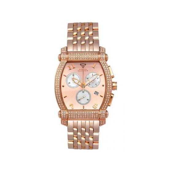 Aqua Master Diamond Watch Unisex Stainless Steel Watches With Half Full Diamonds 15-2W