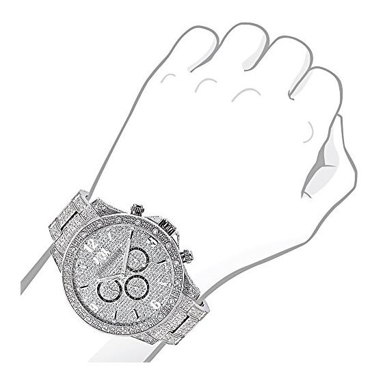 Fully Iced Out Real Diamond Mens Watch Swiss Qua-3