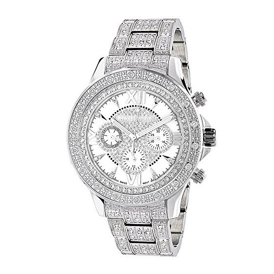 Diamond Bezel And Band Watch For Men 1Ctw Of Diamo