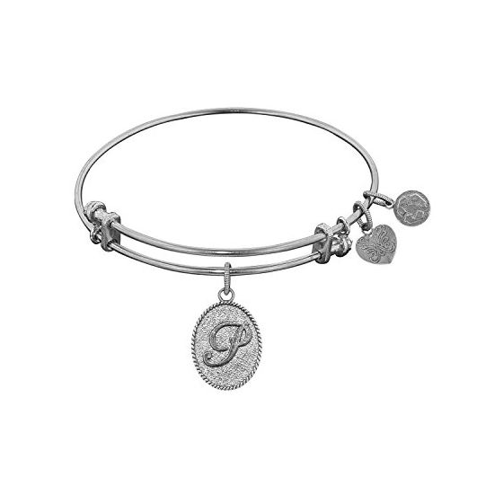Angelica Ladies Initials Collection Bangle Charm 7.25 Inches (Adjustable) WGEL1170
