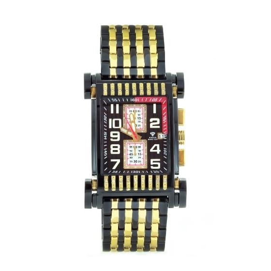 Men's Casino Series Dual-Color Gold/Black-PVD