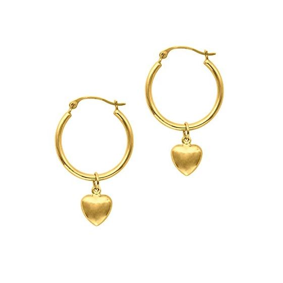 14K Yellow Gold Ladies Drop Earrings ER968
