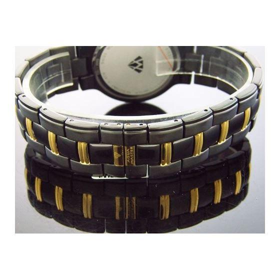 Mens Swiss 40Mm 1.00Ct 40 PCS Diamonds Watch Bl;-3