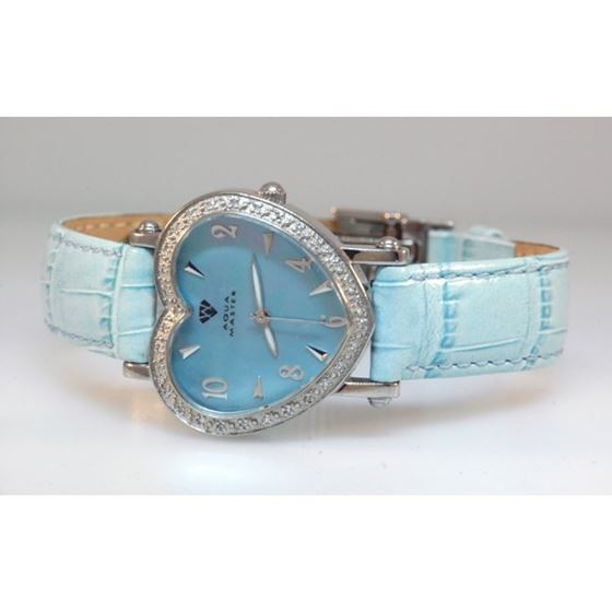 Aqua Master Ladies Heart Shape Diamond W 54589 1