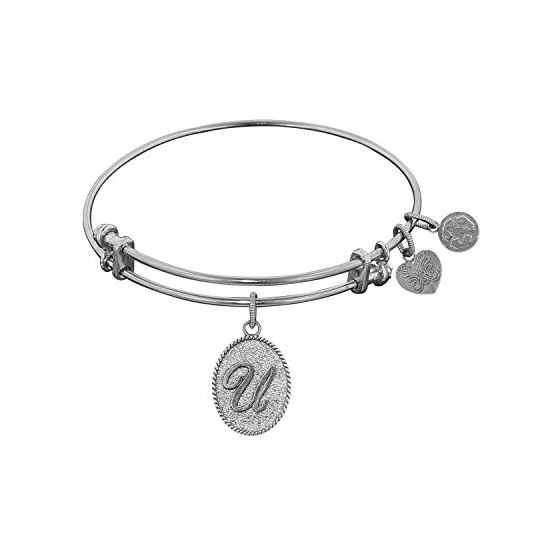 Angelica Ladies Initials Collection Bangle Charm 7.25 Inches (Adjustable) WGEL1175