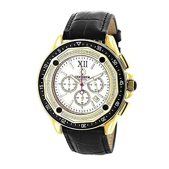 Centorum Mens Chronograph Diamond Watch  89679 1