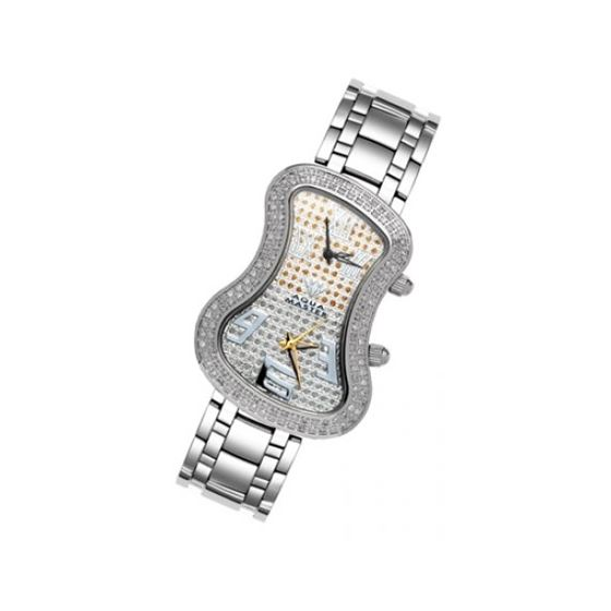 Aqua Master Diamond Watch The AquaMaster Two-Time Zone Ladies Watches 42-6W