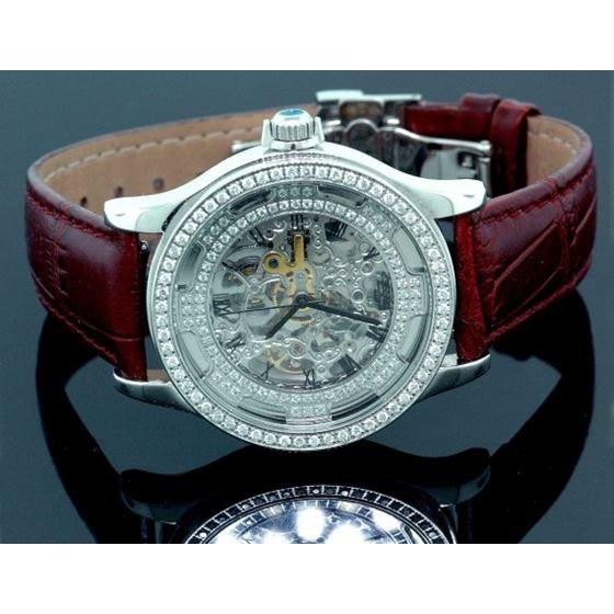 Freeze Unisex Diamond Watch with Zebra Band 1.00 CT