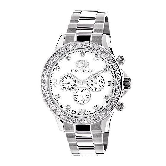 Real Diamond Watches For Men: Luxurman L 89748 1