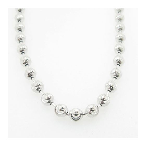 Mens .925 Italian Sterling Silver Moon Cut Link Chain Length - 36 inches Width - 5mm 3