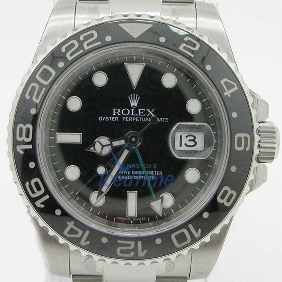 Rolex GMT Master II Black Index Dial Oys 53991 1