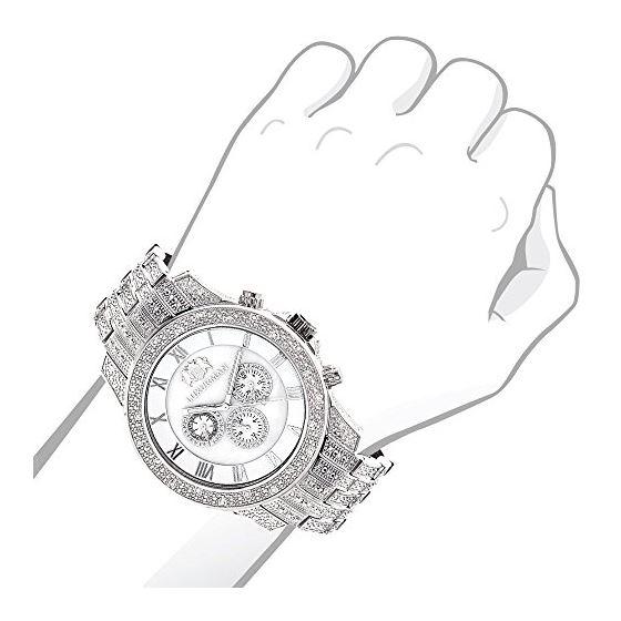 Mens Genuine Diamond Watch 1.25ct Chrono 90963 3