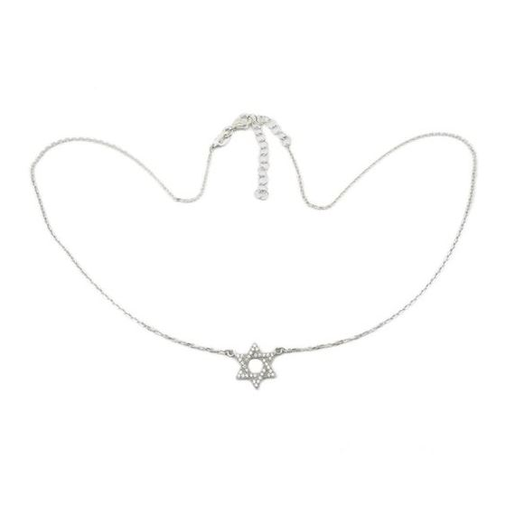 Womens Sterling silver Jewish star of david pendant necklace 1