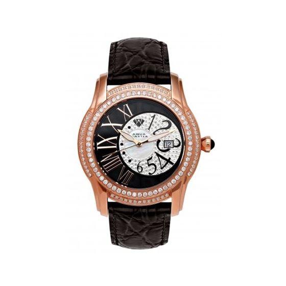 Aqua Master Mens Dual Time Diamond Watch 6-1