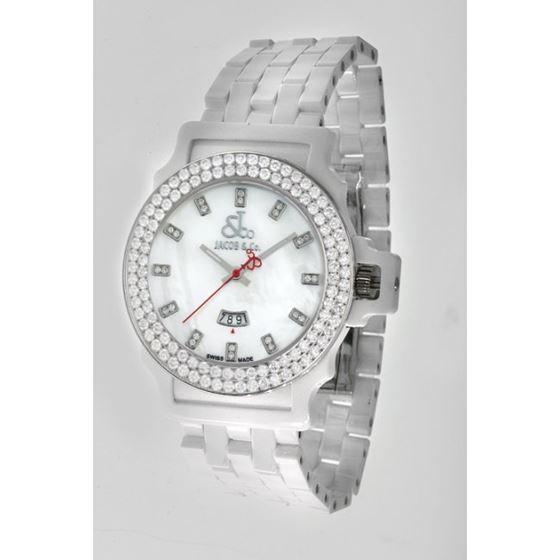 Jacob  Co Ceramic Unisex Diamond Watch J 54247 1