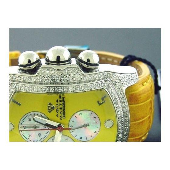 Bubble Loop Yellow Face W/ 2.50Ct Diamonds Watch-3